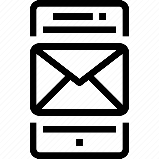 communication, device, email, letter, mail, mobile, smart phone icon