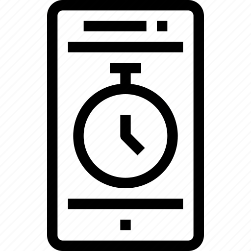 business, clock, device, management, mobile, smart phone, time, timer icon