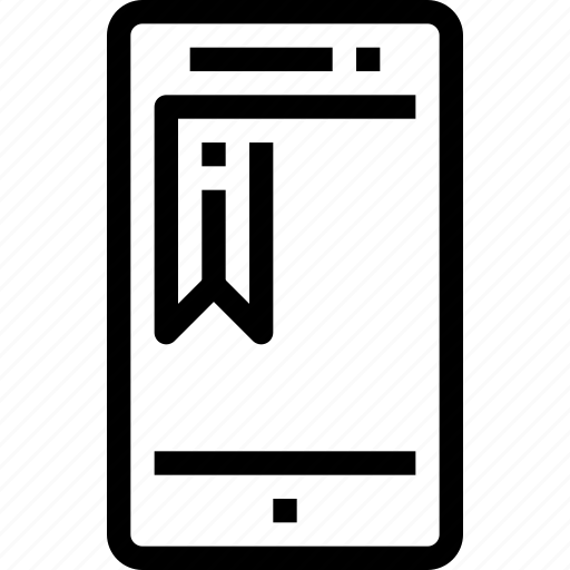 book, device, education, learning, mobile, smart phone icon