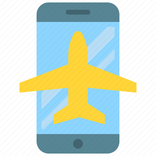 airplane, app, mobile, mode, phone, smartphone icon