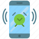 alarm, app, clock, mobile, phone, smartphone icon