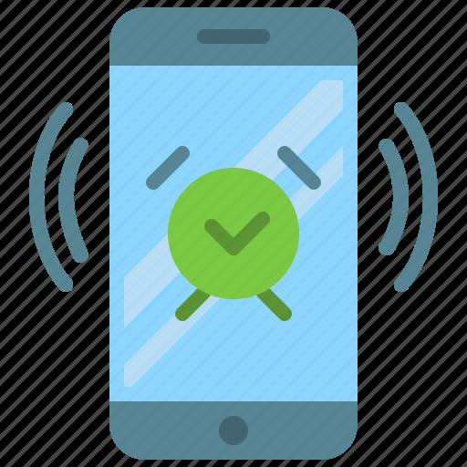 alarm, app, clock, mobile, phone, smartphone icon