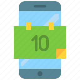 app, calendar, date, mobile, phone, smartphone icon