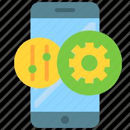adjustments, app, configuration, mobile, options, phone, smartphone icon