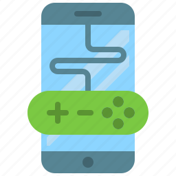 app, gaming, mobile, phone, play, smartphone, station icon