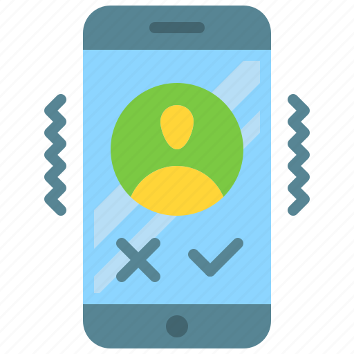 accept, app, call, deny, incoming, mobile, smartphone icon