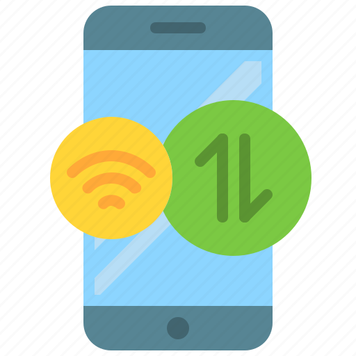app, data, internet, mobile, phone, smartphone, wifi icon