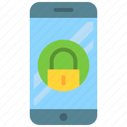 app, lock, mobile, phone, screen, security, smartphone icon