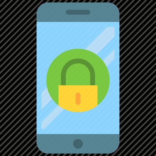 app, lock, mobile, phone, screen, security, smartphone icon