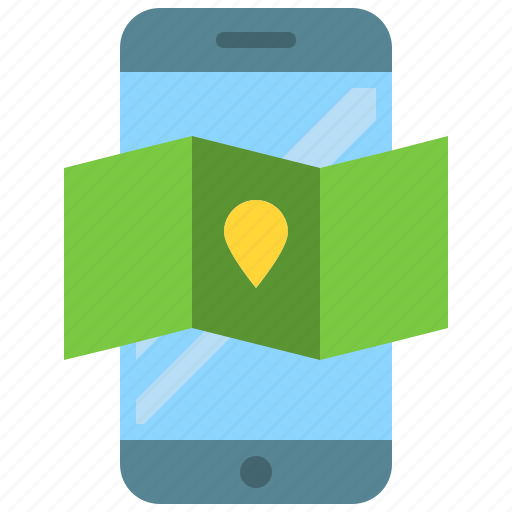 app, gps, maps, mobile, phone, place, smartphone icon