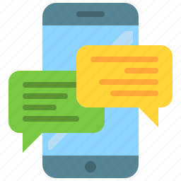 app, messenger, mobile, phone, smartphone, text icon