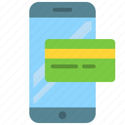card, credit, mobile, payment, phone, smartphone icon