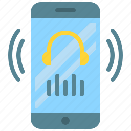 app, earphone, mobile, music, player, smartphone, sound icon