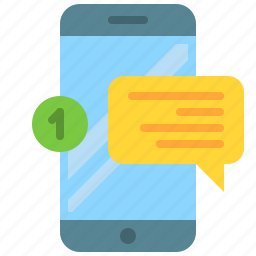 app, message, messenger, mobile, new, phone, smartphone icon