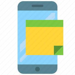 app, mobile, notes, phone, smartphone, text icon