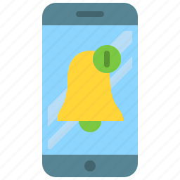 app, bell, mobile, new, notification, phone, smartphone icon