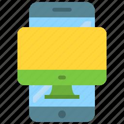 app, computer, mobile, phone, responsible, responsivity, smartphone icon