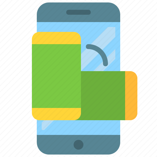 app, mobile, phone, rotate, screen, smartphone icon