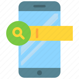 app, glass, magnifying, mobile, phone, search, smartphone icon