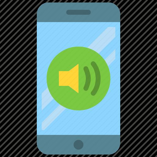 app, mobile, phone, smartphone, sound, volume icon