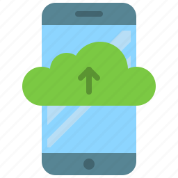 app, cloud, drive, mobile, smartphone, storage, upload icon