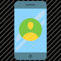 app, mobile, phone, profile, smartphone, user icon