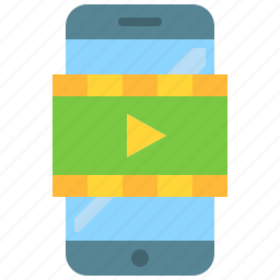 app, gallery, mobile, phone, player, smartphone, video icon
