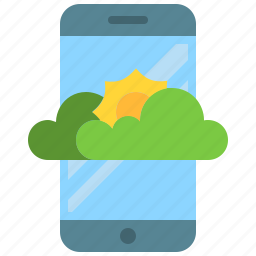 app, climate, mobile, phone, smartphone, weather icon