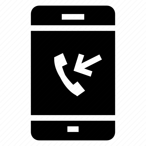 call, device, incoming, iphone, mobile, phone, smartphone icon