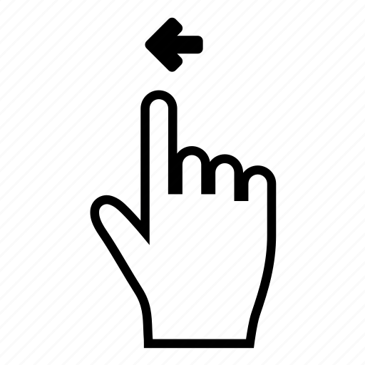 drag, gesture, left, move, scroll, shift, swipe icon