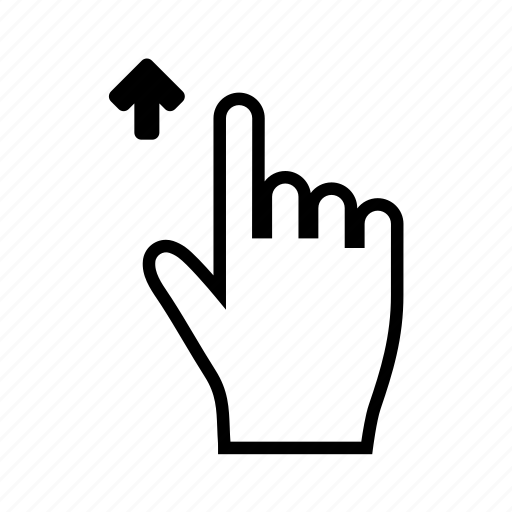 gesture, hand, scroll, shift, swipe, touch, up icon