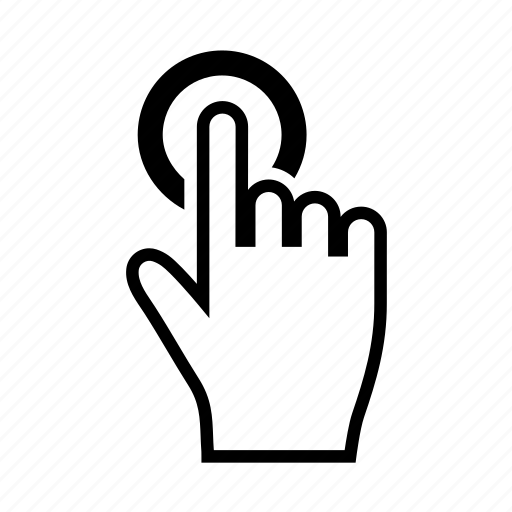 click, finger, gesture, hand, mobile, tap, touch icon