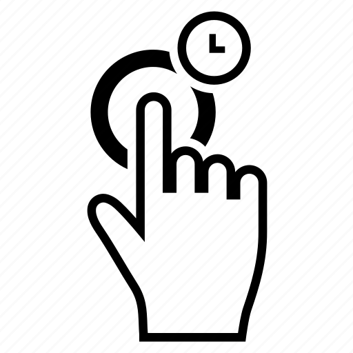 click, finger, gesture, hand, tap, tap and hold, touch icon