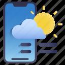 gradient, mobile, weather, application, widget, cloud
