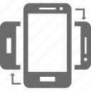 device, mobile, portrait, rotate, smartphone icon
