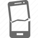 crash, device, mobile, smartphone, technology icon