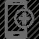 add, mobile, more, smartphone