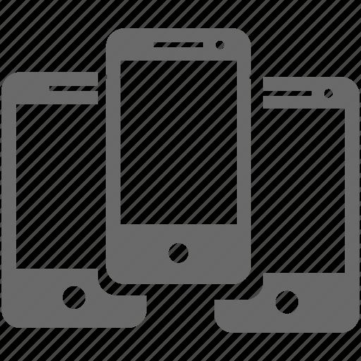 device, mobile, set, smartphone icon