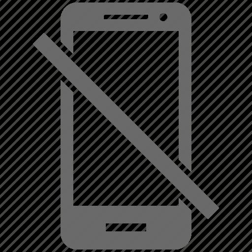 cancel, device, mobile, smartphone, unavailable icon