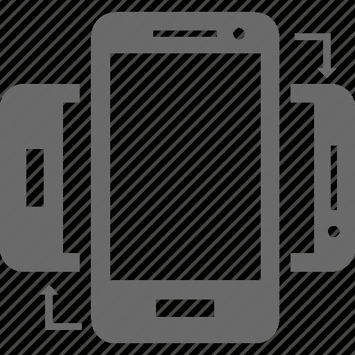 device, mobile, portrait, rotate, smartphone icon