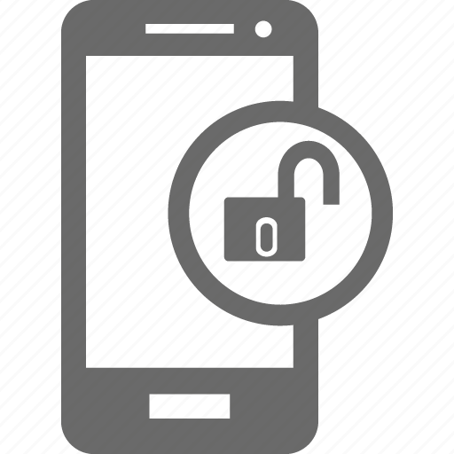 device, mobile, smartphone, unlock, unlocked icon
