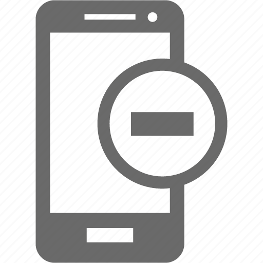 delete, mobile, phone, remove, smartphone icon