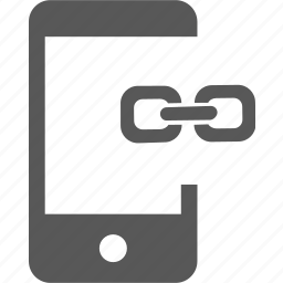 anchor, chain, device, link, mobile, share, url icon