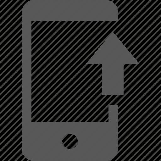 arrow, direction, mobile, up, upload, uploading icon