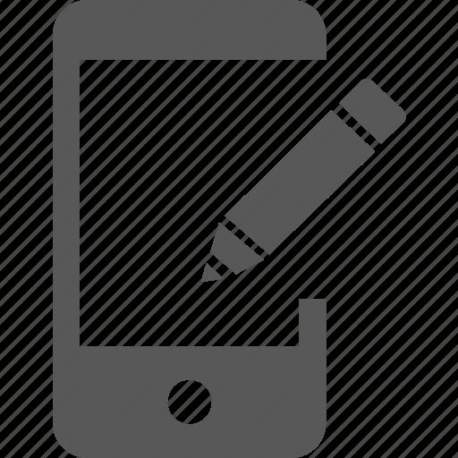compose, device, edit, mobile, pen, pencil, update icon