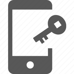 access, key, lock, mobile, password, private, security icon