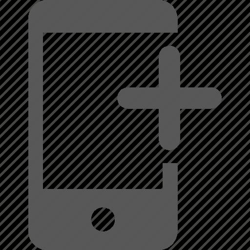 add, create, device, mobile, new, plus icon