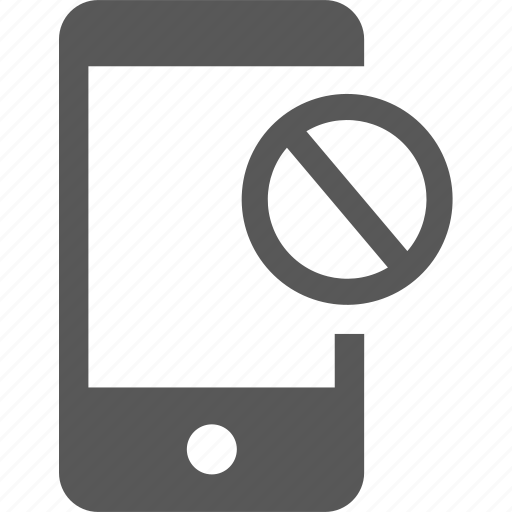 ban, caution, denied, device, mobile, no access, stop icon