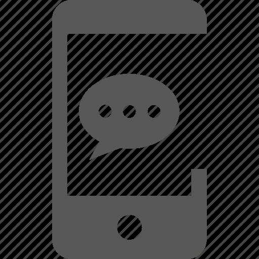 bubble, chat, comment, communication, message, mobile, talk icon