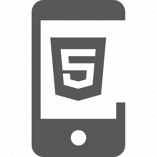 device, html, html 5, mark up, mobile, tag icon